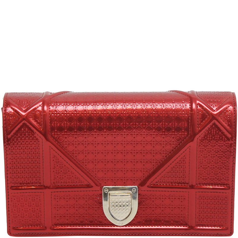 abd3be49106d Buy Dior Metallic Red Micro Cannage Leather Small Diorama Shoulder ...