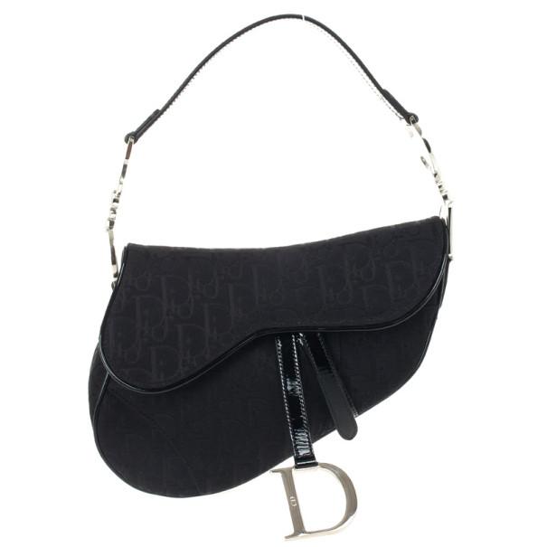 bd6a438e9f ... Christian Dior Black Monogram Canvas Saddle Bag. nextprev. prevnext