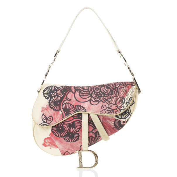 Dior Off Print Saddle Bag