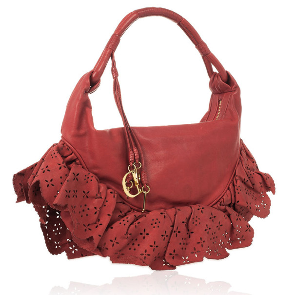 d42ae0a66438 ... Christian Dior Red Gypsy Ruffles Hobo Shoulder Bag. nextprev. prevnext