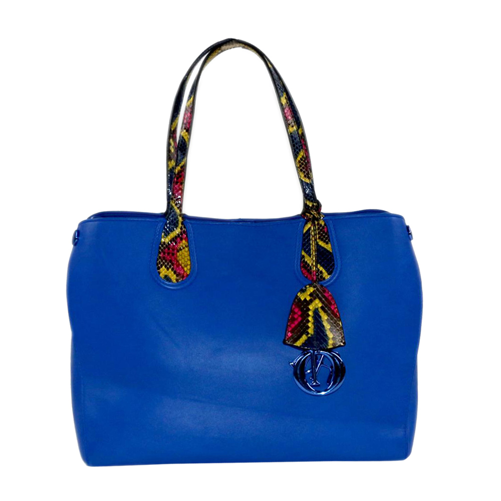 Pre-owned Dior Blue Leather Addict Tote Bag