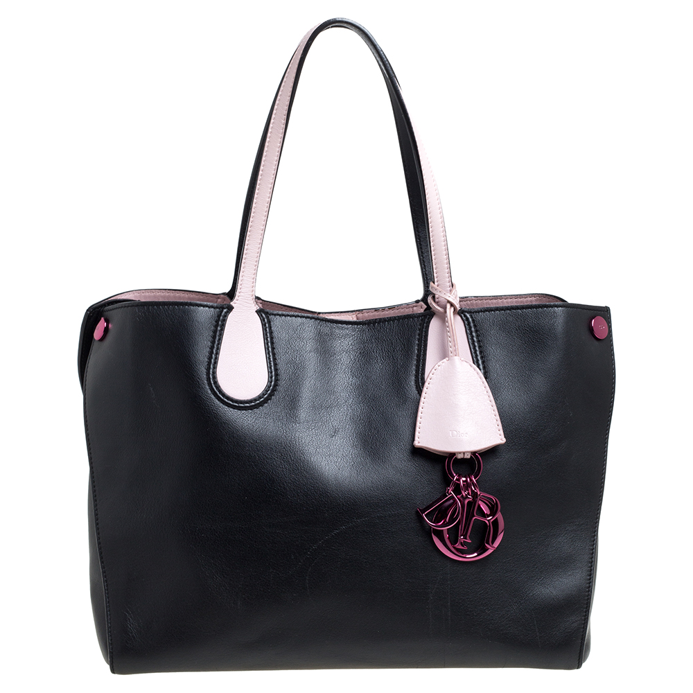 Pre-owned Dior Addict Shopper Tote In Black