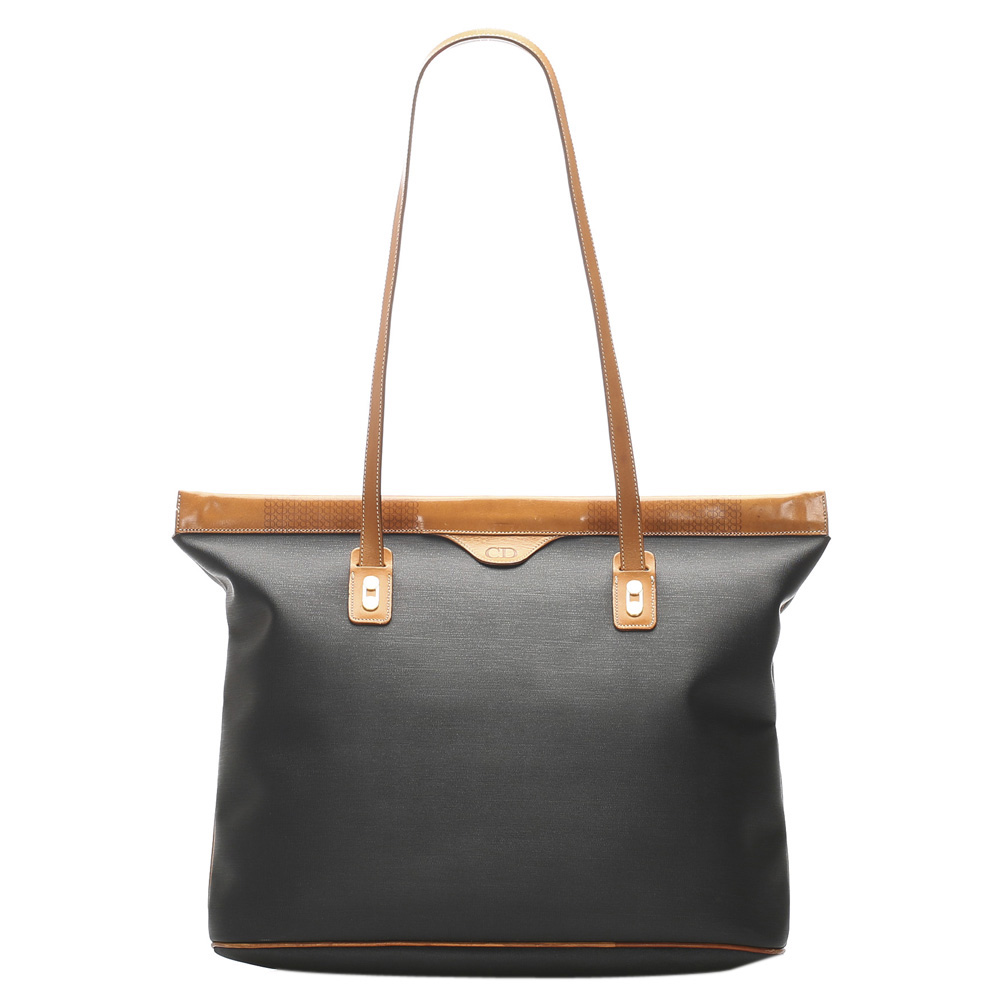 Pre-owned Dior Brown/blue Canvas Tote Bag