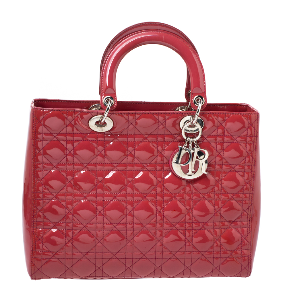 Pre-owned Dior Tote In Red