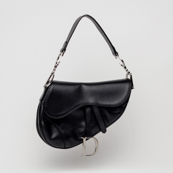 f245ef14557b Buy Christian Dior Black Leather Saddle Bag 34438 at best price