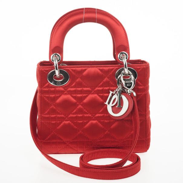 ... Christian Dior Red Satin Mini Lady Dior Small Bag. nextprev. prevnext 0c61cc430e9f8