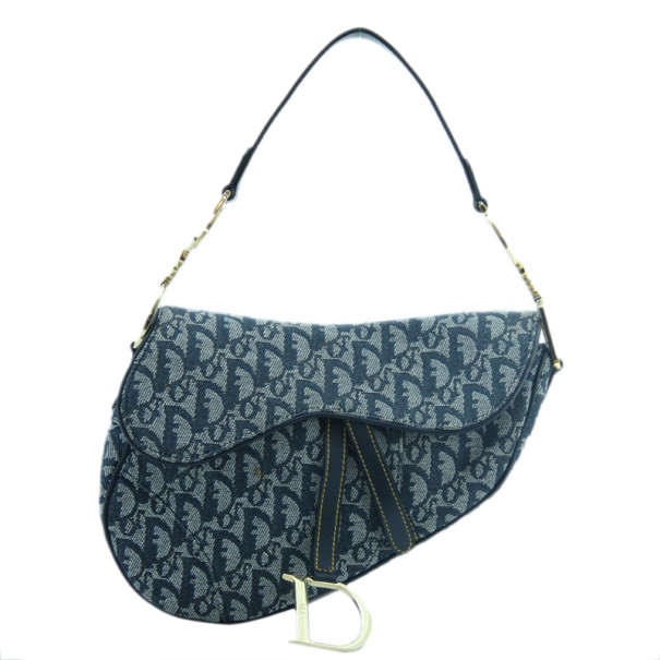 Buy Dior Blue Denim Saddle Bag 38249 at best price  e5bb9e92f9a6b