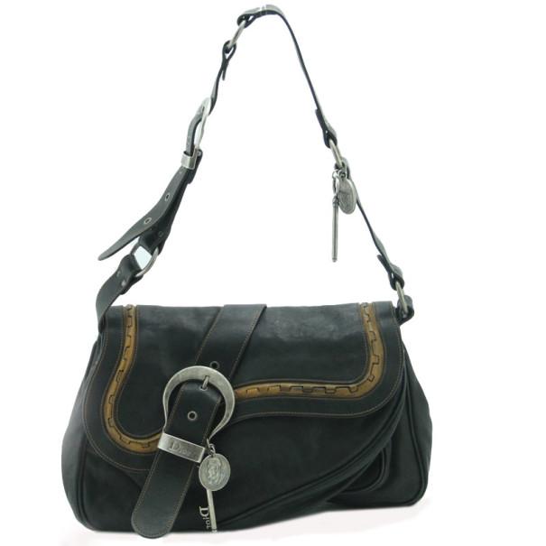 4f889a34fef Dior Gaucho Double Flap Saddle Bag