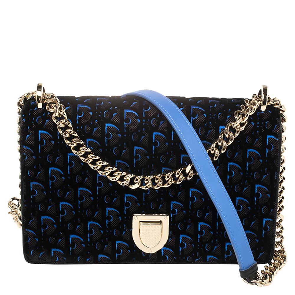 Pre-owned Dior Ama Flap Shoulder Bag In Black