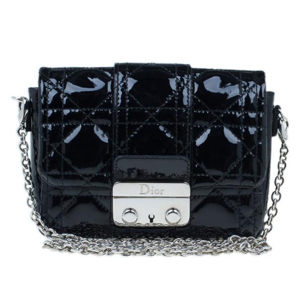 Buy Christian Dior Black Patent Lambskin Mini Miss Dior Pouch 6406 at best  price  3585cadbb3