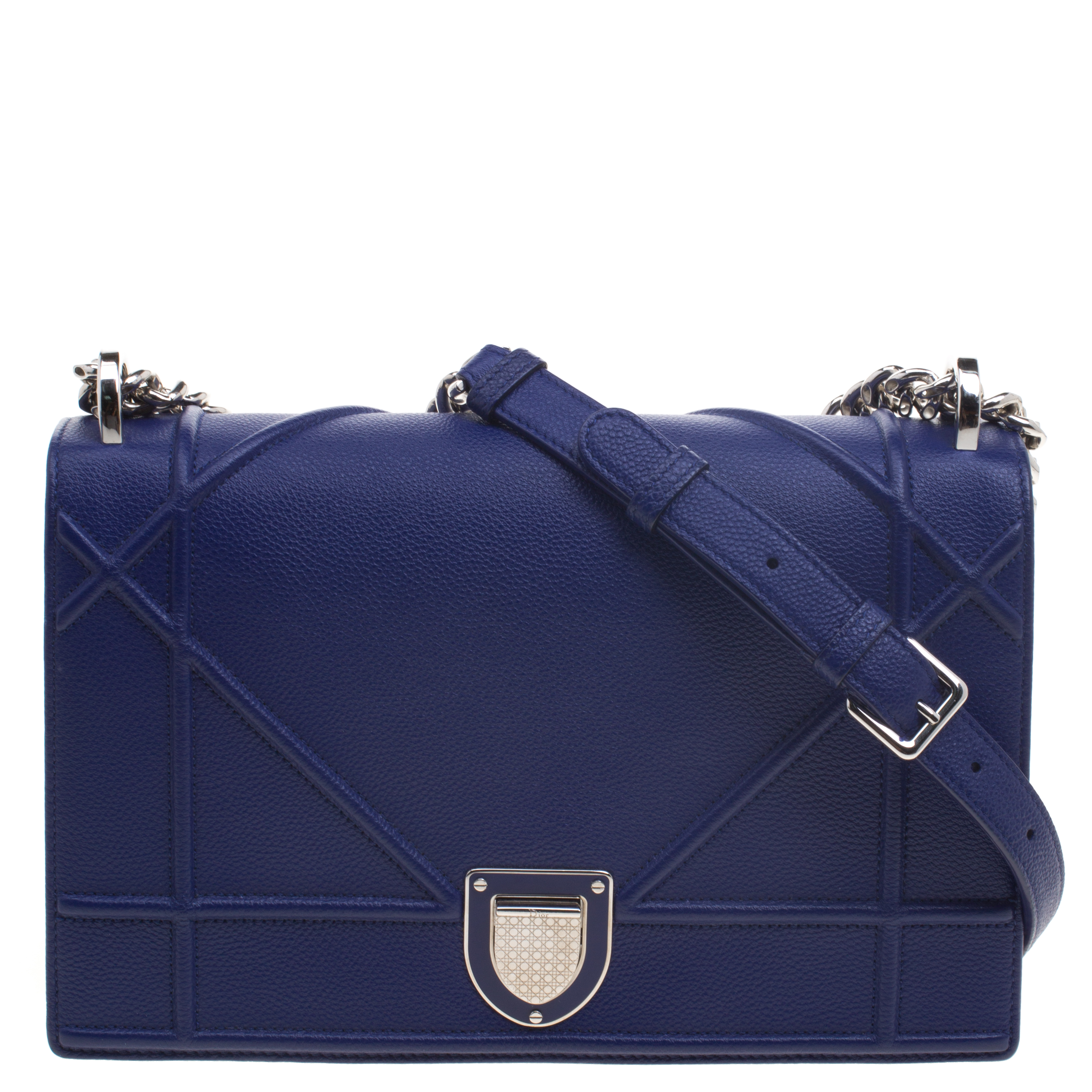 86f99d4e0f01 ... Dior Blue Leather Medium Diorama Shoulder Bag. nextprev. prevnext