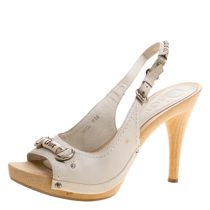 5124c8151b5 ... Dior White Leather Slingback Sandals Size 38. nextprev. prevnext