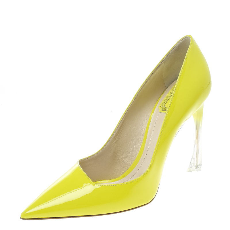 47db8e254 ... Dior Lime Green Leather Songe Pointed Toe Pumps Size 39. nextprev.  prevnext