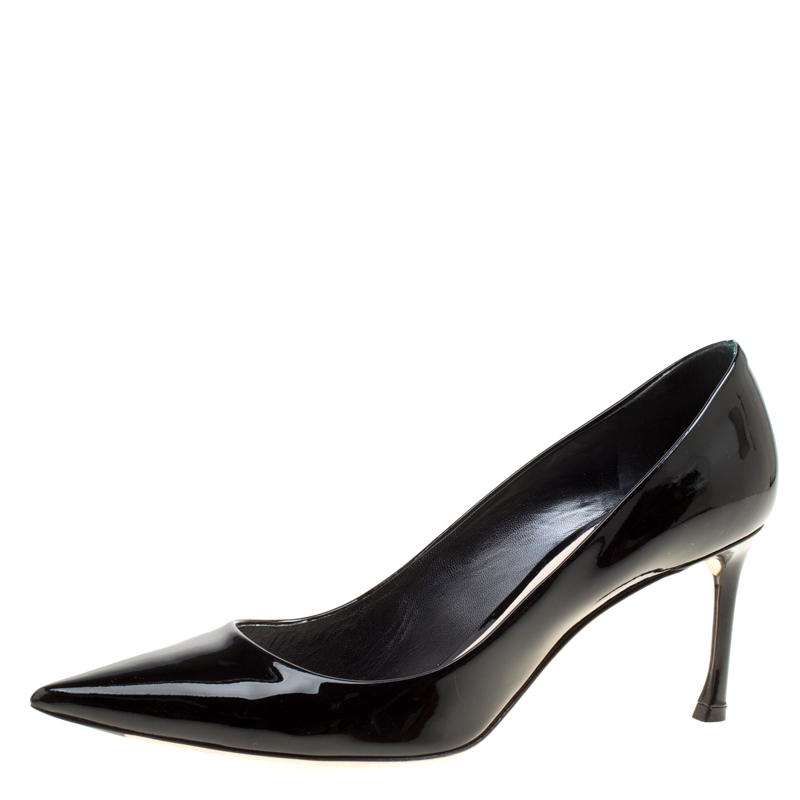 25d1023fe741 ... Dior Black Patent Leather Dioressence Pointed Toe Pumps Size 39.  nextprev. prevnext