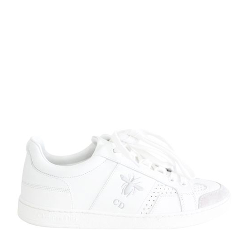 Dior White Leather Low Sneaker Size 34.5