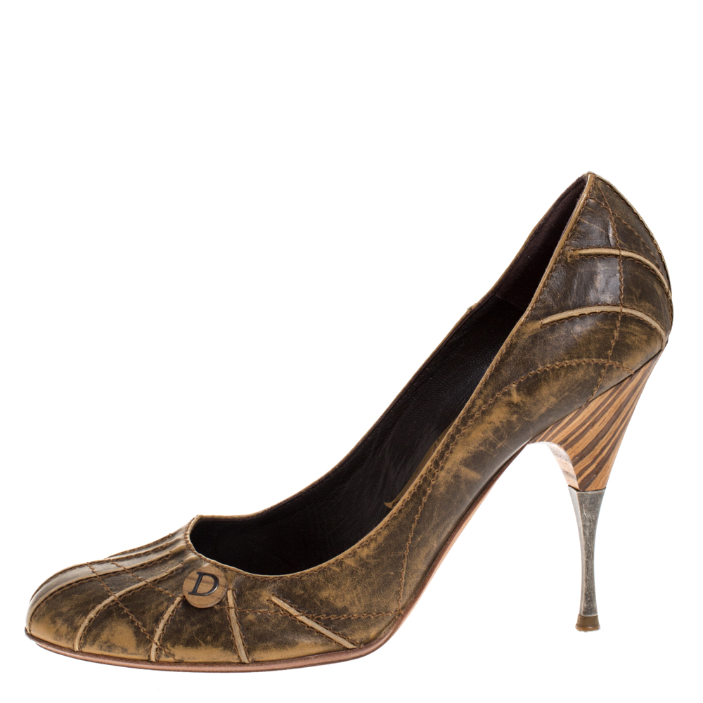 Dior Brown Leather Pumps Size 40  - buy with discount