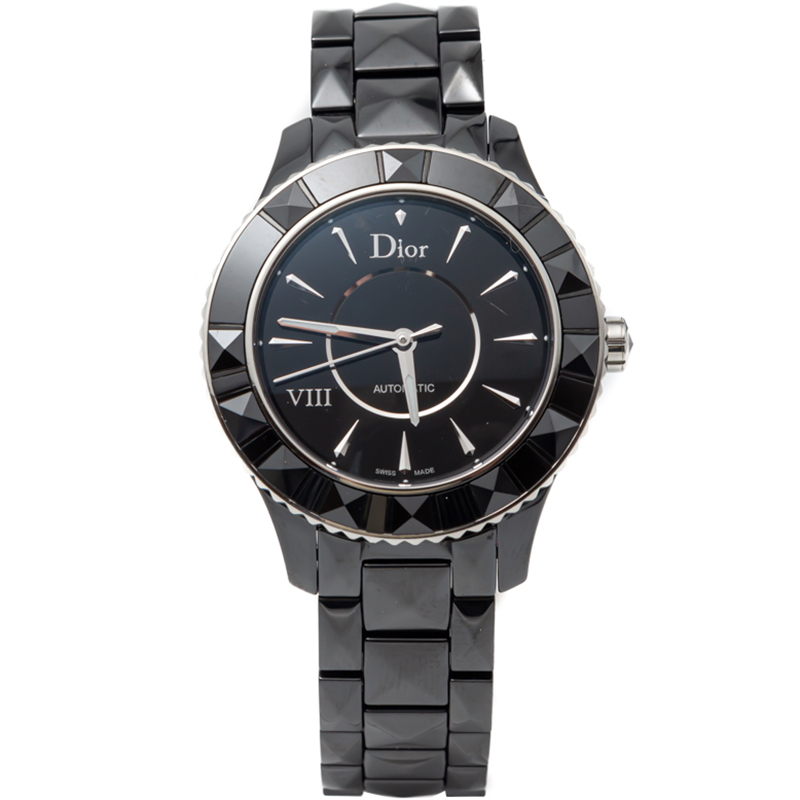 Dior Black Ceramic Viii Automatic Women'S Watch 38MM