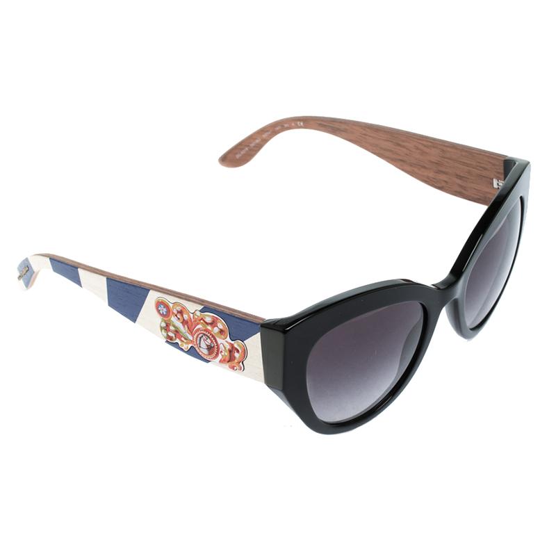 e7abbabf65f ... Dolce and Gabbana Black DG 4278 Sicilian Carretto Cat Eye Sunglasses.  nextprev. prevnext