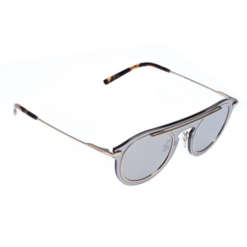 Dolce and Gabbana Gold/Grey DG2169 Mirror Sunglasses
