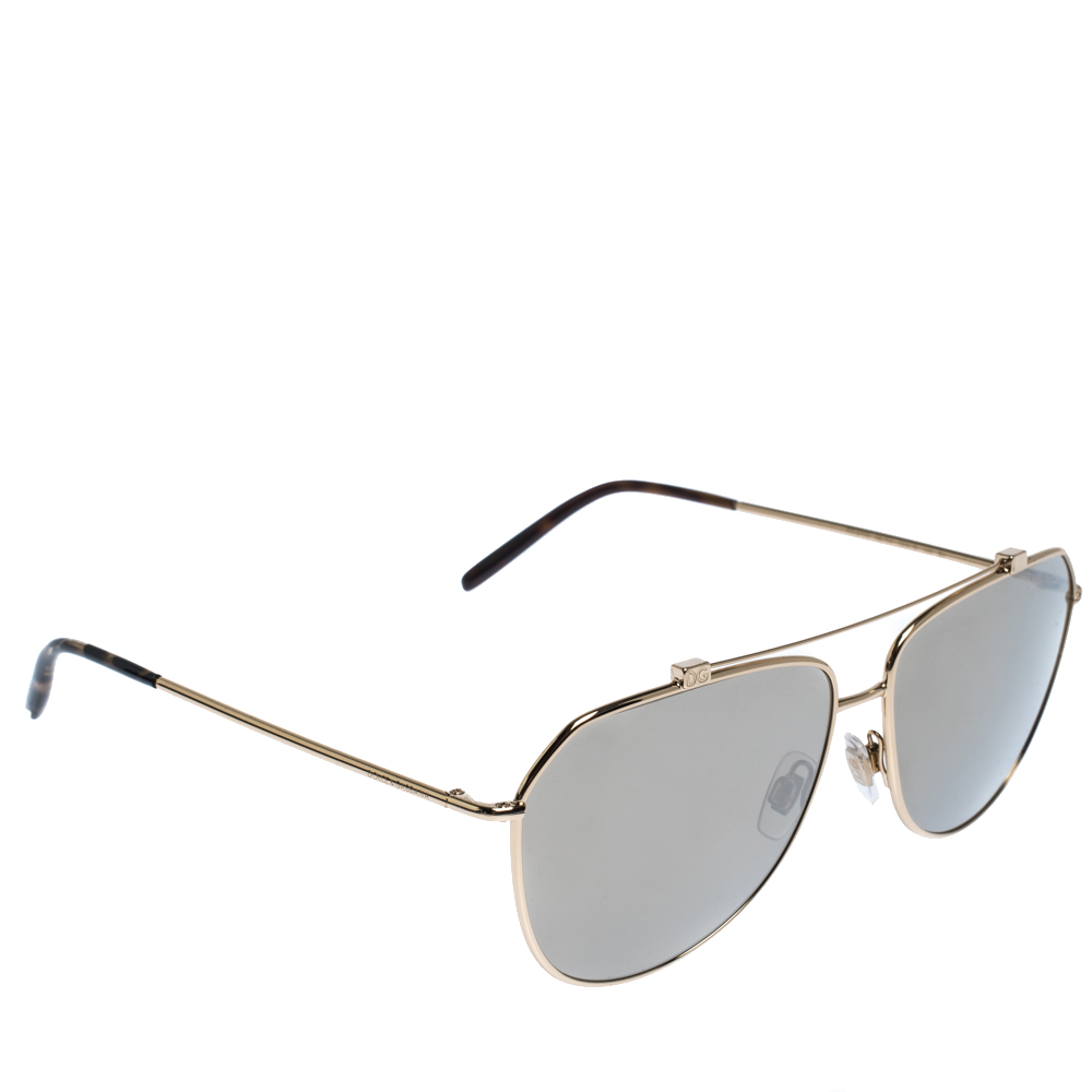 Dolce & Gabbana Gold/Brown DG2190 Sunglasses