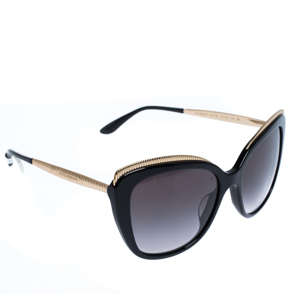 Dolce & Gabbana Grey Gradient/Black DG4332-F Sunglasses