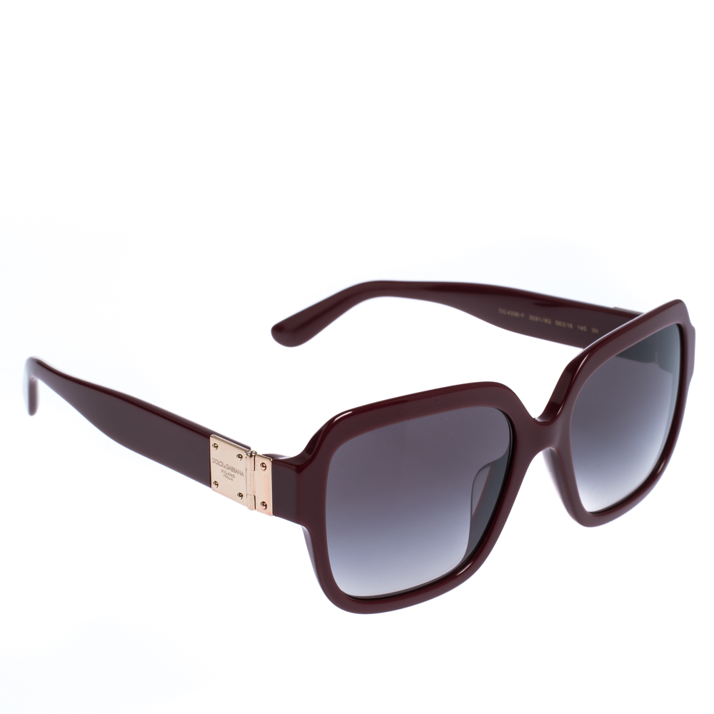 Dolce & Gabbana Grey Gradient/Bordeaux DG4336-F Sunglasses
