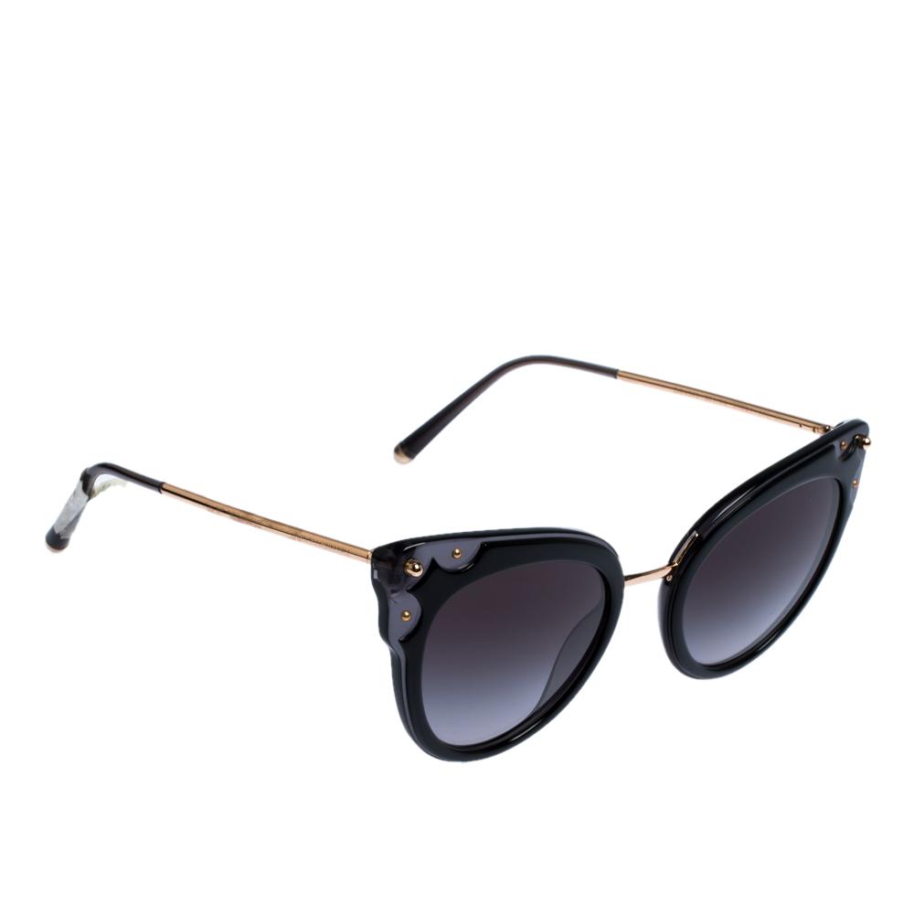 Dolce & Gabbana Grey Gradient/Black DG4340 Sunglasses