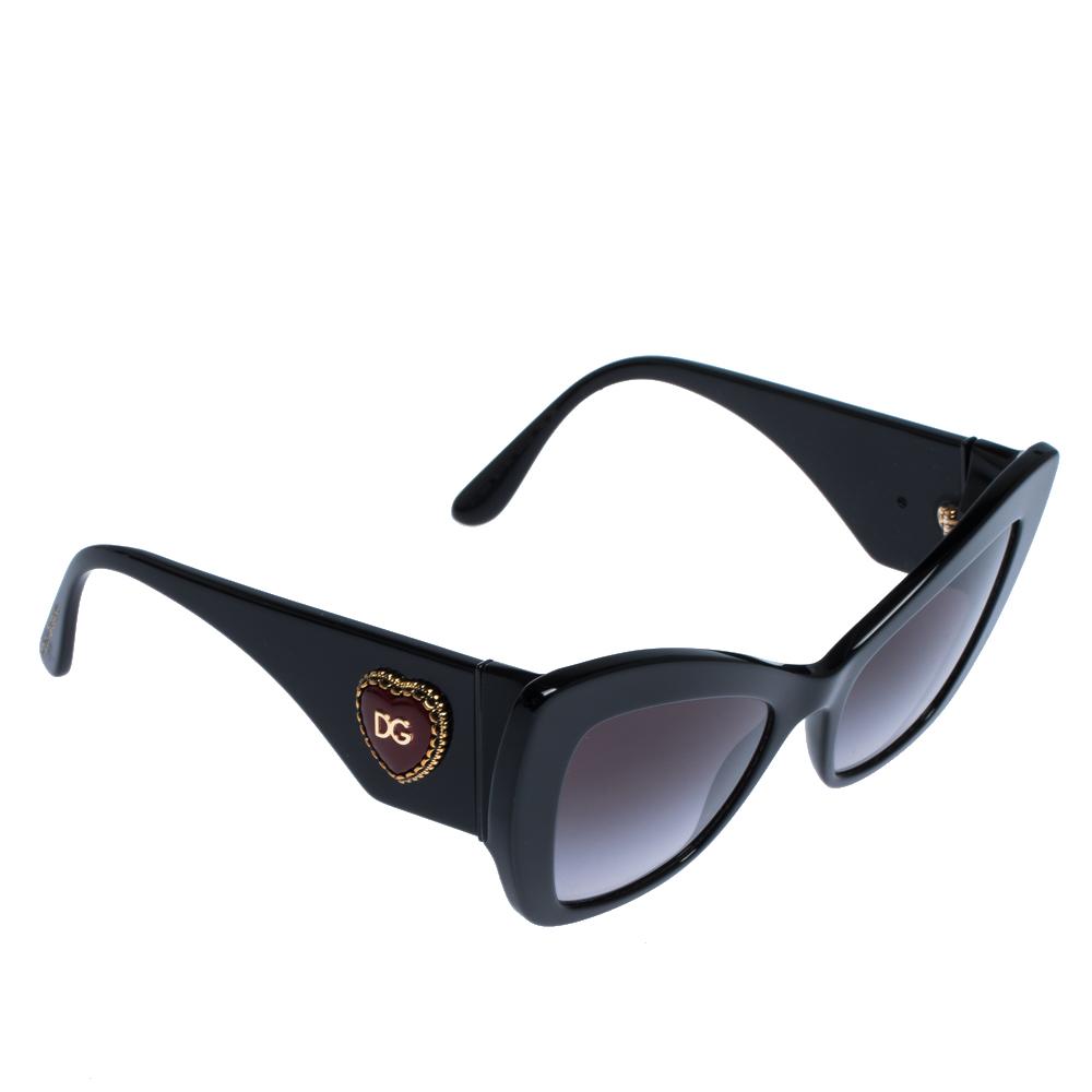 Dolce & Gabbana Black/Grey Gradient DG4349 Sunglasses