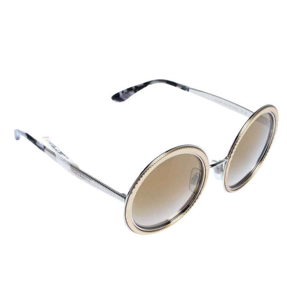 Dolce & Gabbana Light Brown/Mirrored Gold DG2179 Sunglasses