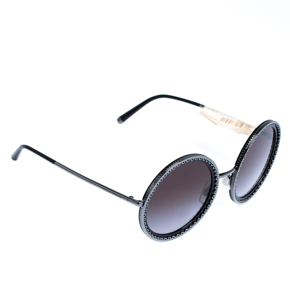 Dolce & Gabbana Grey Gradient/Black DG2211 Sunglasses