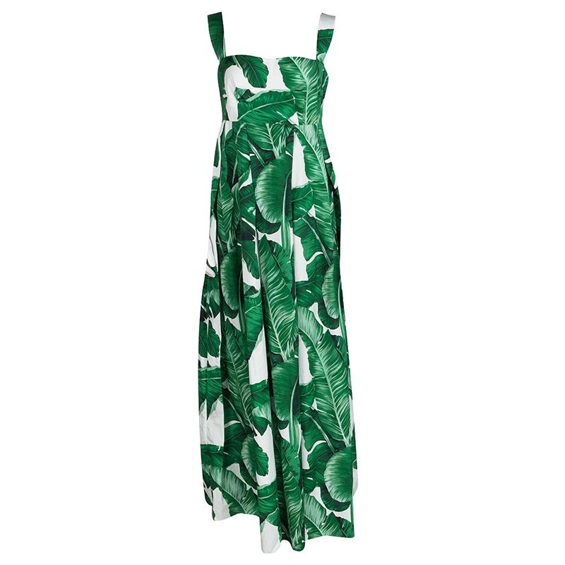 156d285867 ... Palm Leaf Print Cotton Sleeveless Maxi Dress M. nextprev. prevnext