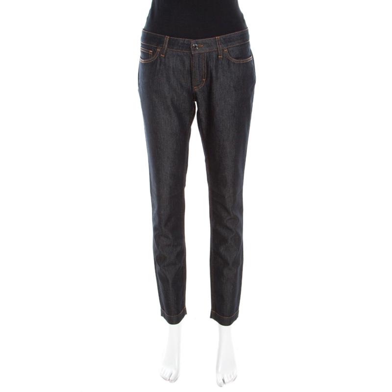 Купить со скидкой Dolce & Gabbana Indigo Dark Wash Denim Skinny Pretty Jeans M