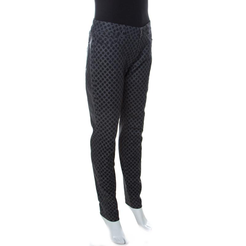 Фото #1: Dolce & Gabbana Grey Polka Dot Denim Skinny Jeans M