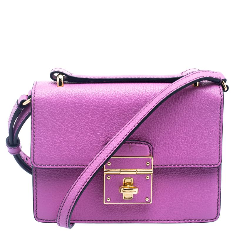 450491ec7733 ... Dolce and Gabbana Pink Leather Mini Rosalia Crossbody Bag. nextprev.  prevnext