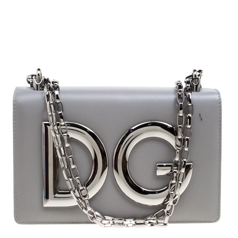 69878ae6bd ... Dolce and Gabbana Grey Leather DG Girls Shoulder Bag. nextprev. prevnext