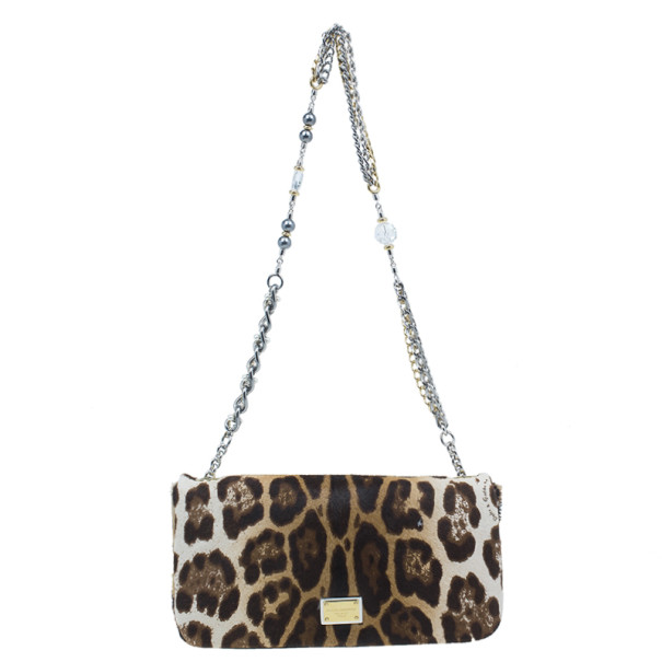 6c5f08520108 Buy Dolce and Gabbana Small Leopard Print Pony Hair Charles Bag 2998 ...