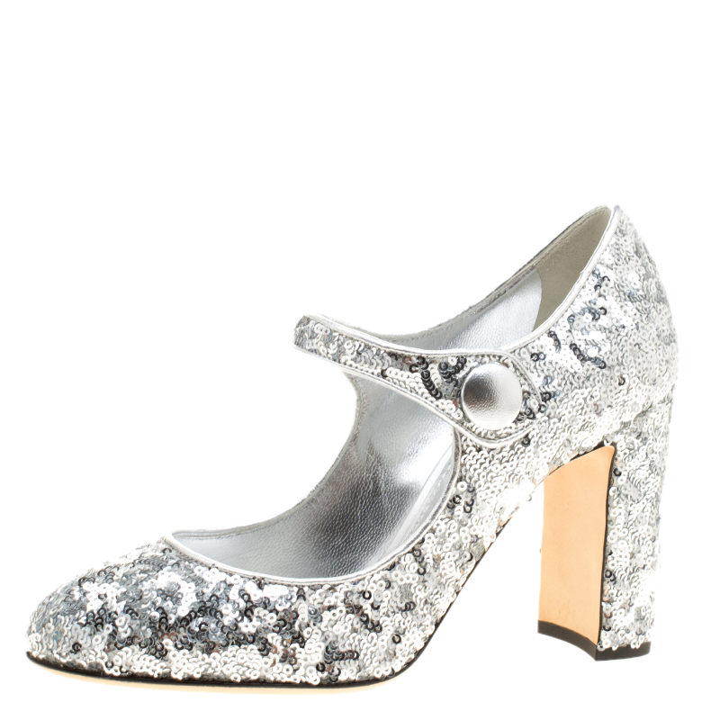 Silver Size Sequin Mary Gabbana And 37 Buy 132752 Dolce Jane Pumps zMVpSULqG