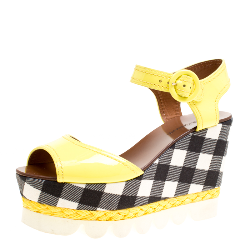fefd22a2be Buy Dolce and Gabbana Yellow Patent Leather Bubble Sole Espadrille ...