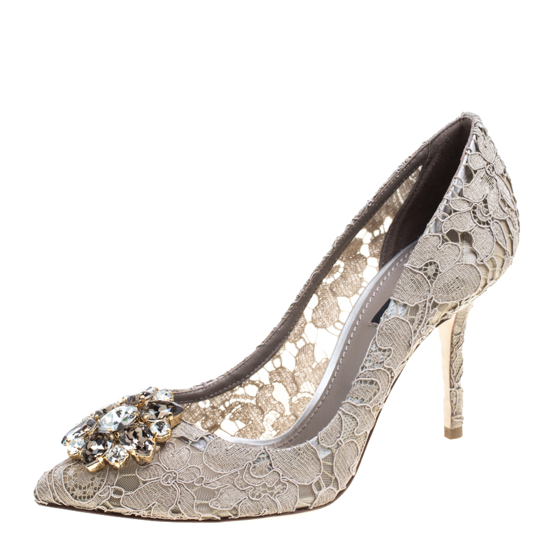 d1a59acf74a0 ... Lace Bellucci Crystal Embellished Pointed Toe Pumps Size 38. nextprev.  prevnext