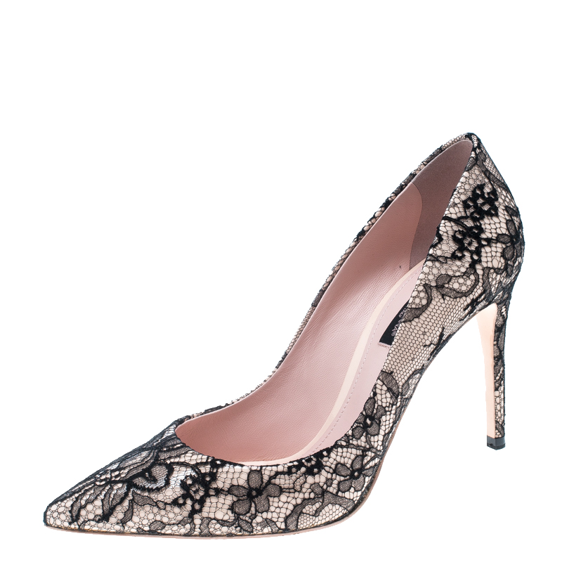 49db374c4cac Buy Dolce and Gabbana Light Pink Patent Leather and Black Chantilly ...