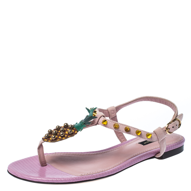 Dolce \u0026 Gabbana Pink Suede Leather