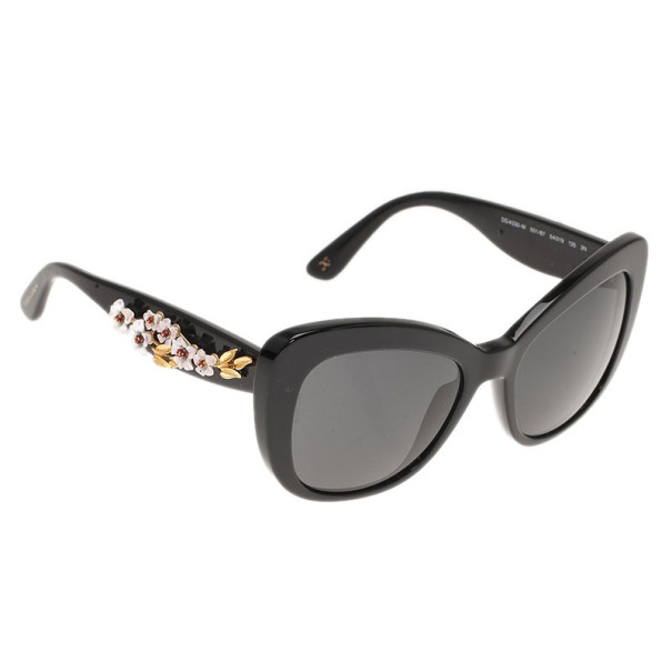 6e53bfa9e1ce ... Dolce and Gabbana Black Almond Flowers Cat Eye Sunglasses. nextprev.  prevnext