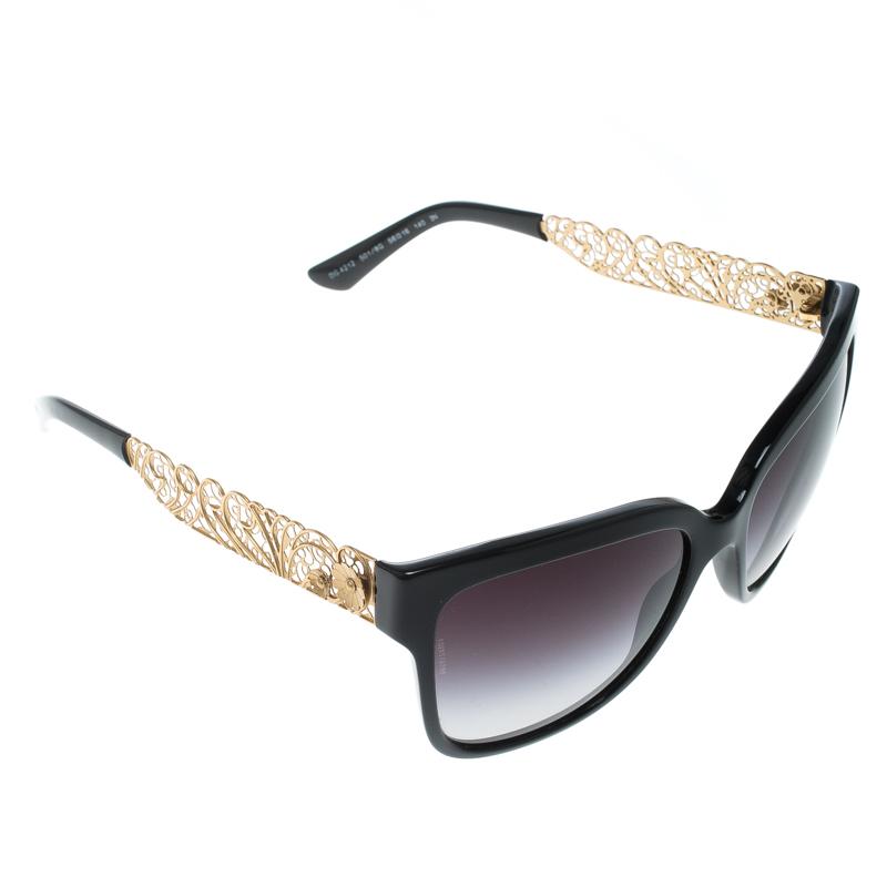 90913bc77 ... Dolce & Gabbana Black Gradient DG 4212 Filigree Cat Eye Sunglasses.  nextprev. prevnext