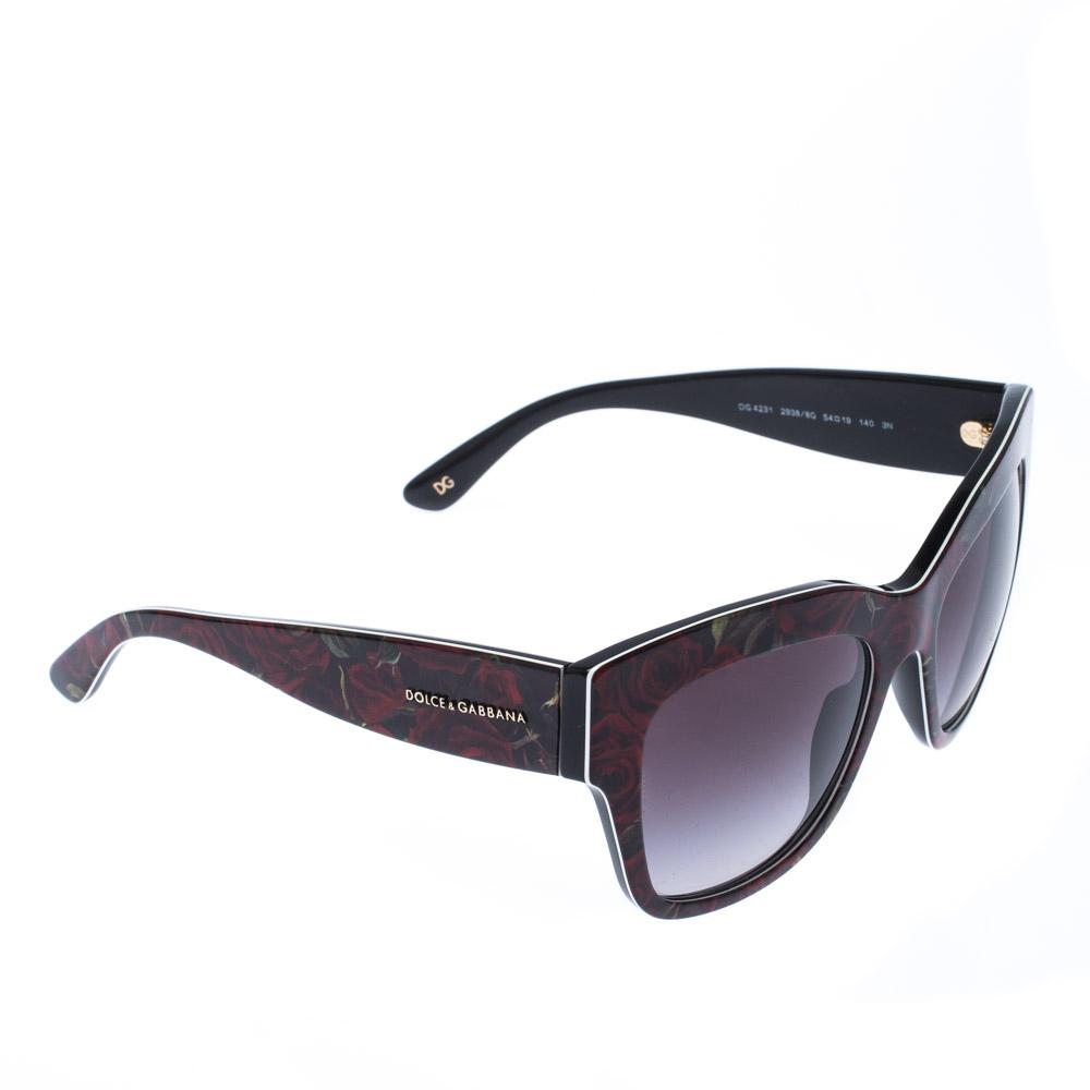 Dolce & Gabbana Floral/ Grey Gradient DG 4231 Wayfarer Sunglasses