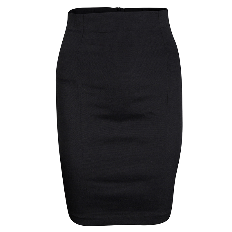 e4d948049463bf ... Dolce and Gabbana Black High Waist Pleat Detail Pencil Skirt M.  nextprev. prevnext