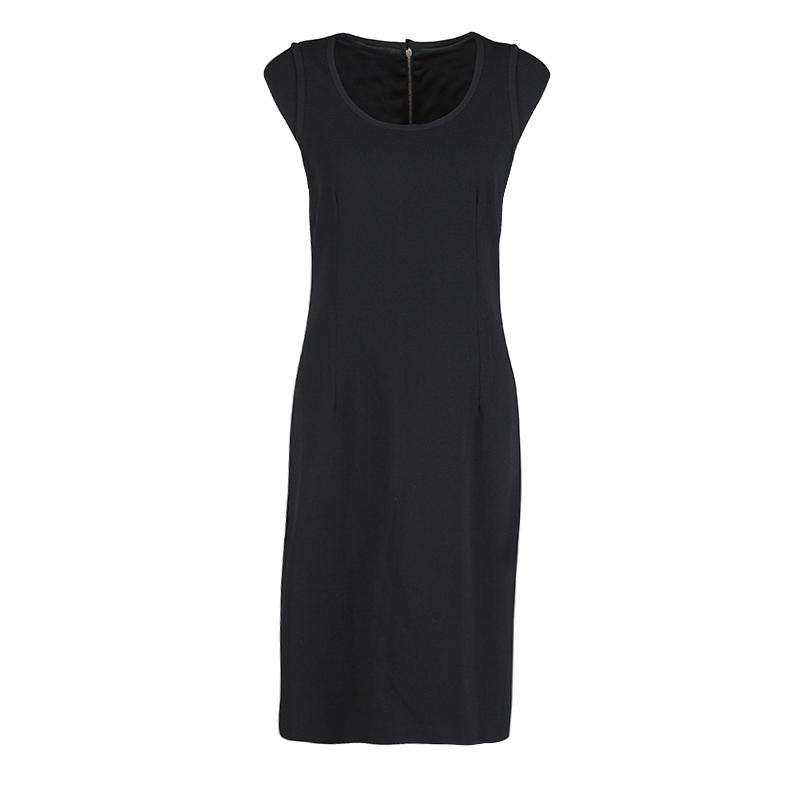 c9e5c4fd17b ... Dolce and Gabbana Black Wool Cap Sleeve Dress M. nextprev. prevnext