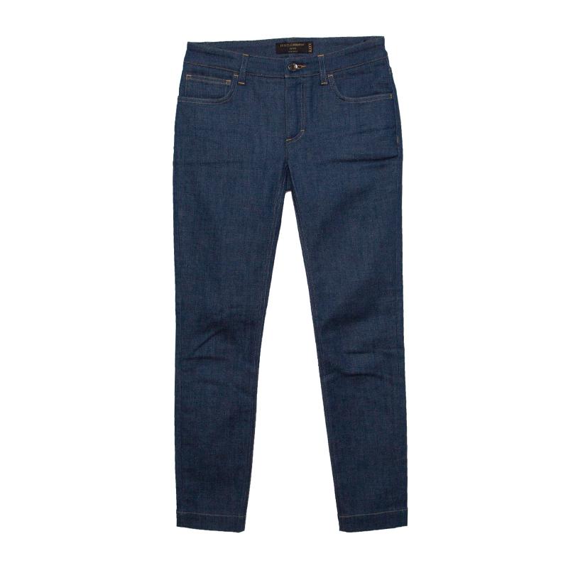 Купить со скидкой Dolce and Gabbana Blue Washed Denim Skinny Kate Jeans XS