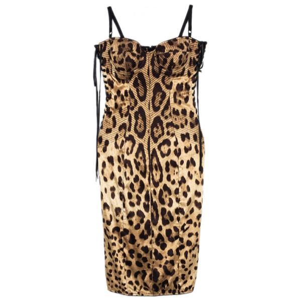 Buy Dolce and Gabbana Leopard Print Corset Dress M 28881 at best ... 17d5f8c7c5