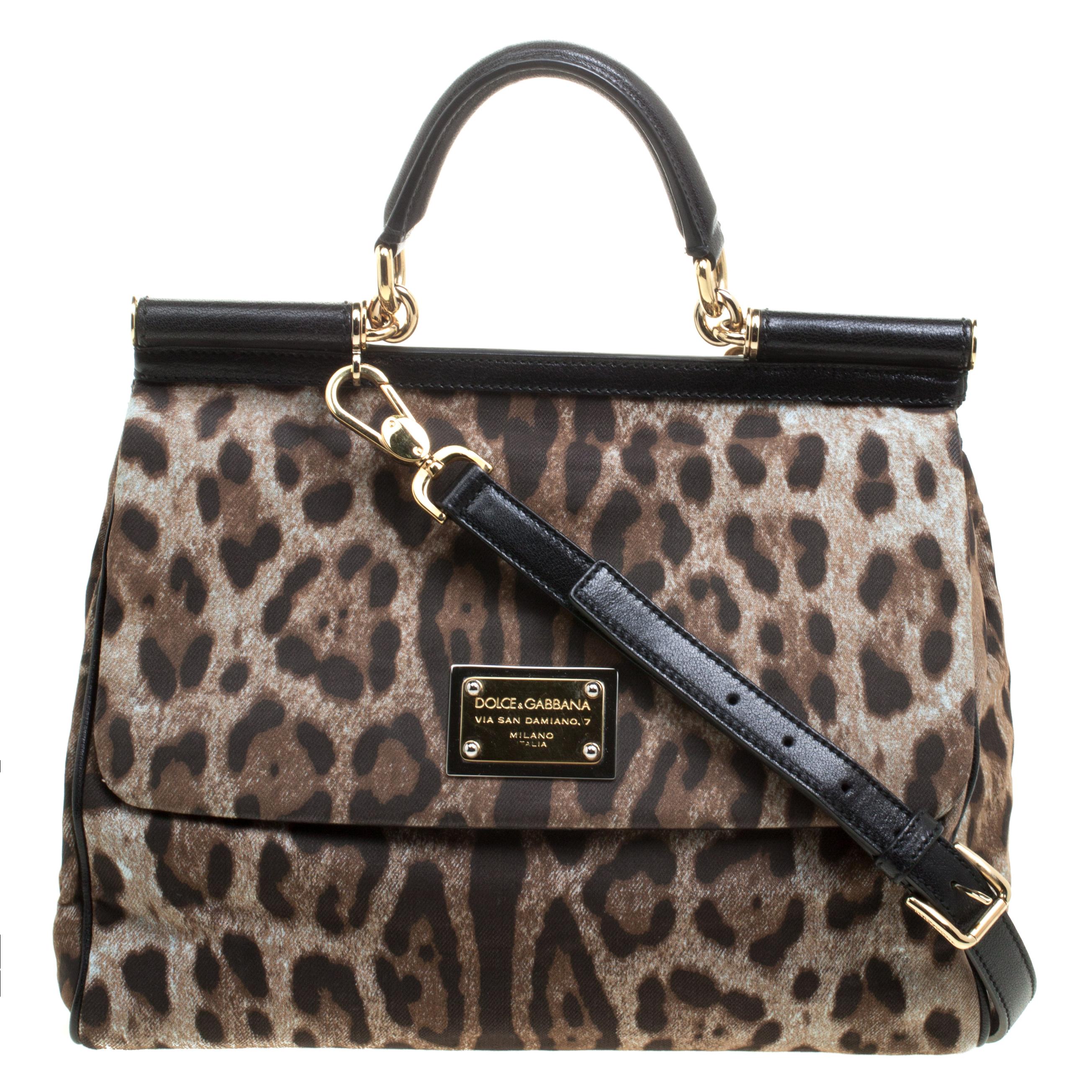 1ff0927b68eb Buy Dolce and Gabbana Leopard Print Fabric Medium Miss Sicily Top ...
