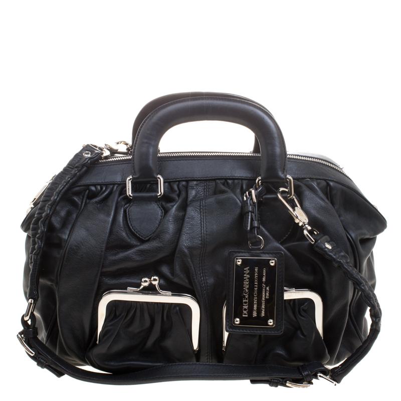 4191a9d1ec ... Dolce and Gabbana Black Leather Miss Curly Bag. nextprev. prevnext